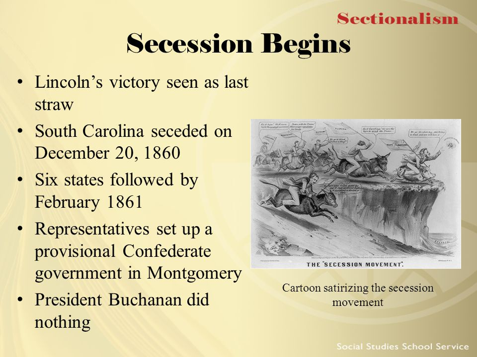 Cartoon satirizing the secession movement