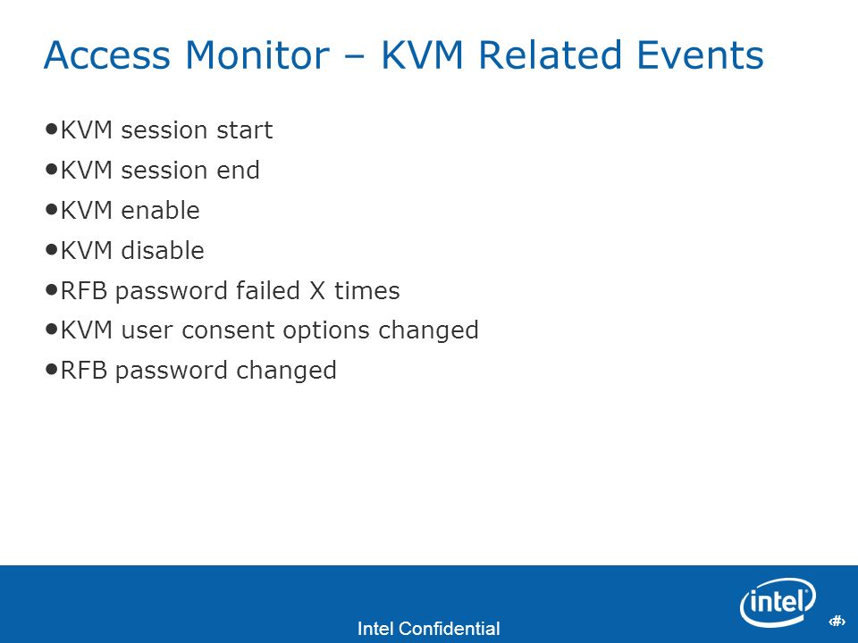Access Monitor – KVM Related Events