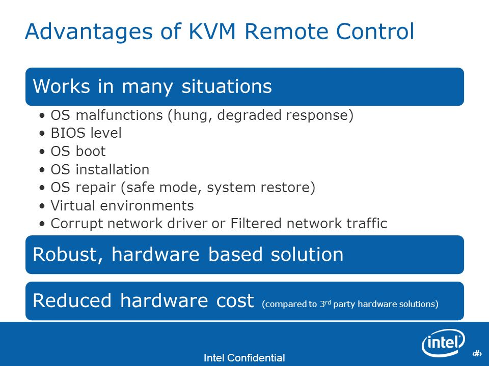 Advantages of KVM Remote Control