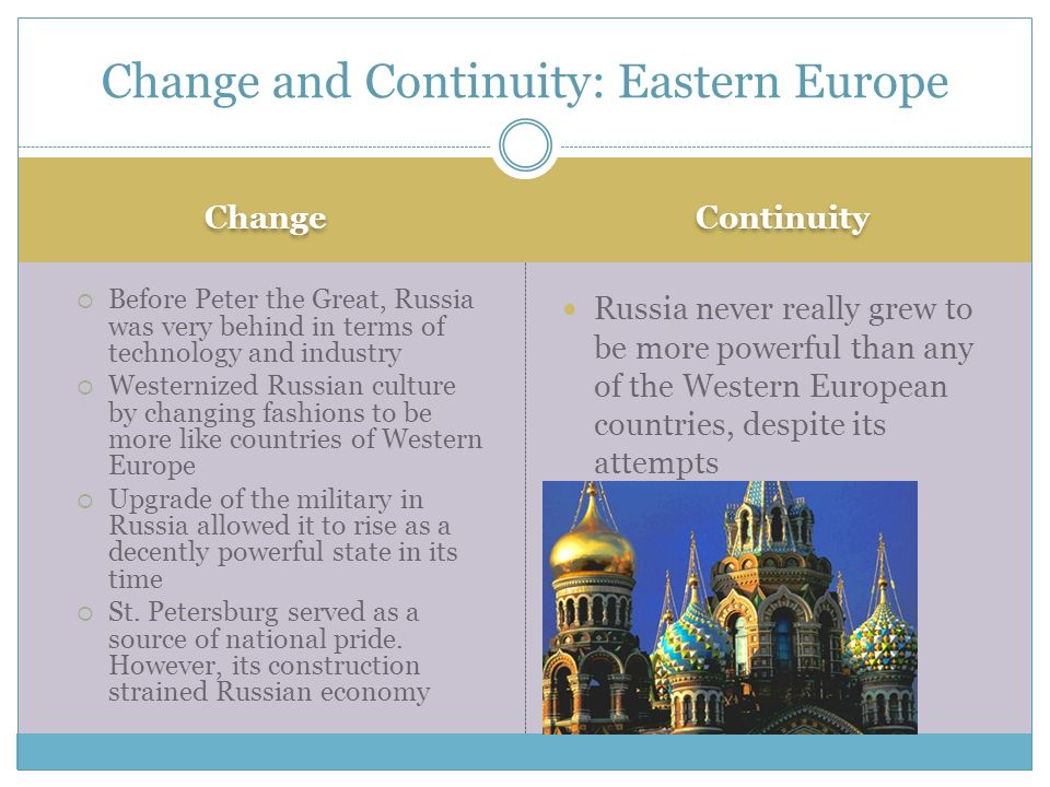 Change and Continuity: Eastern Europe