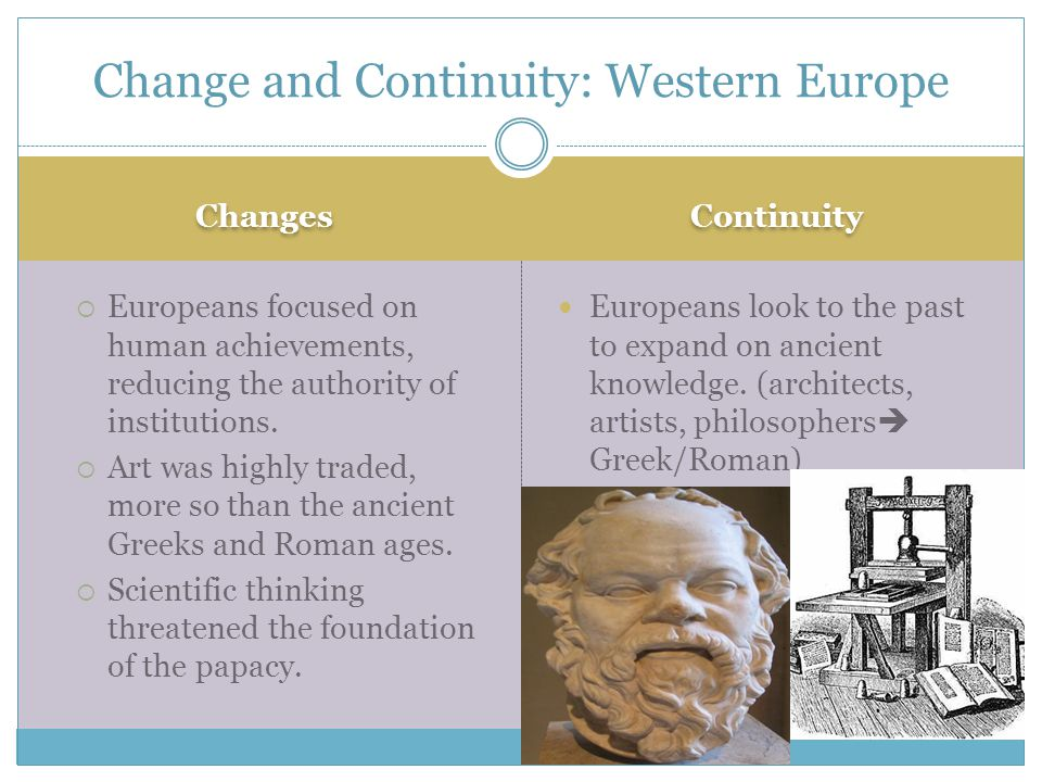 Change and Continuity: Western Europe