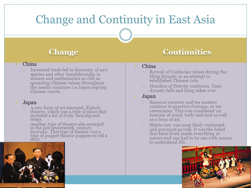 Change and Continuity in East Asia