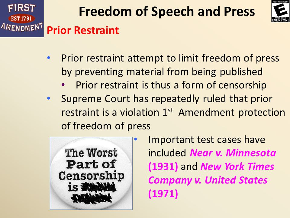 The forms of censorship in the united states