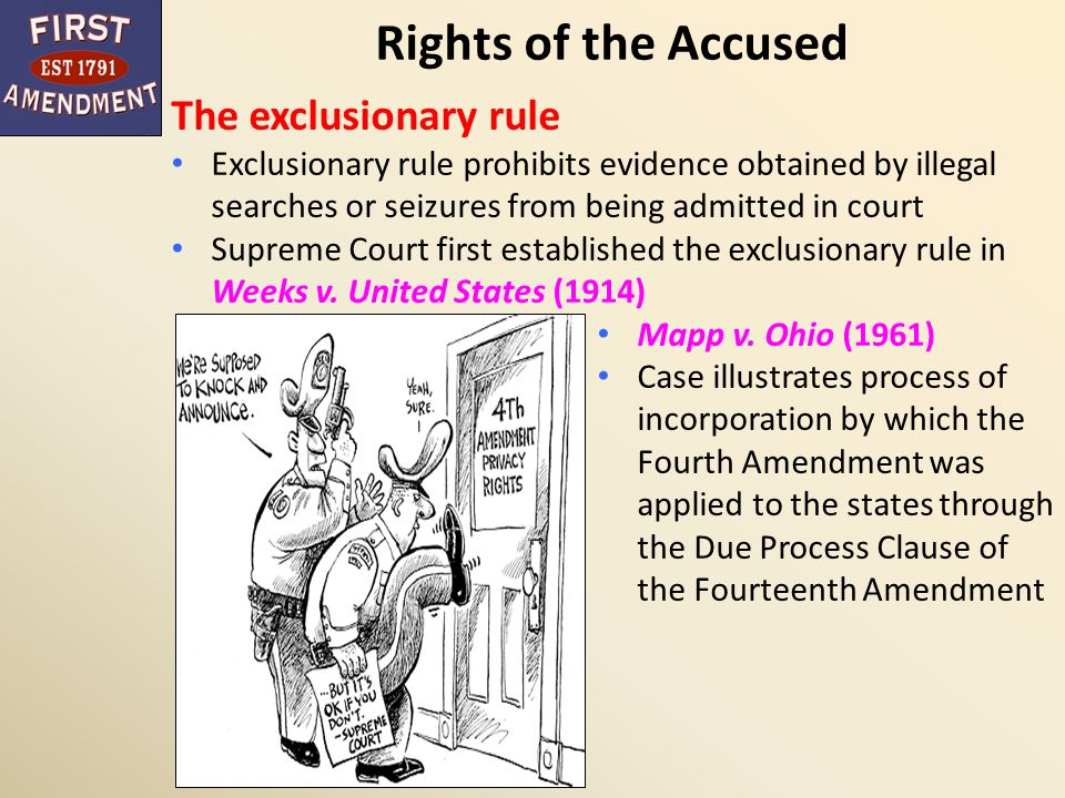 Rights of the Accused The exclusionary rule