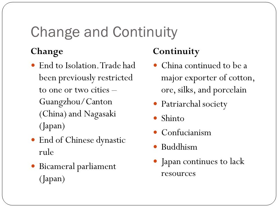 continuity and change in japanese society Bajs conference 2018: crisis what crisis continuity, and change in japan tokyo and the visual culture of japan's great earthquake of 1923.