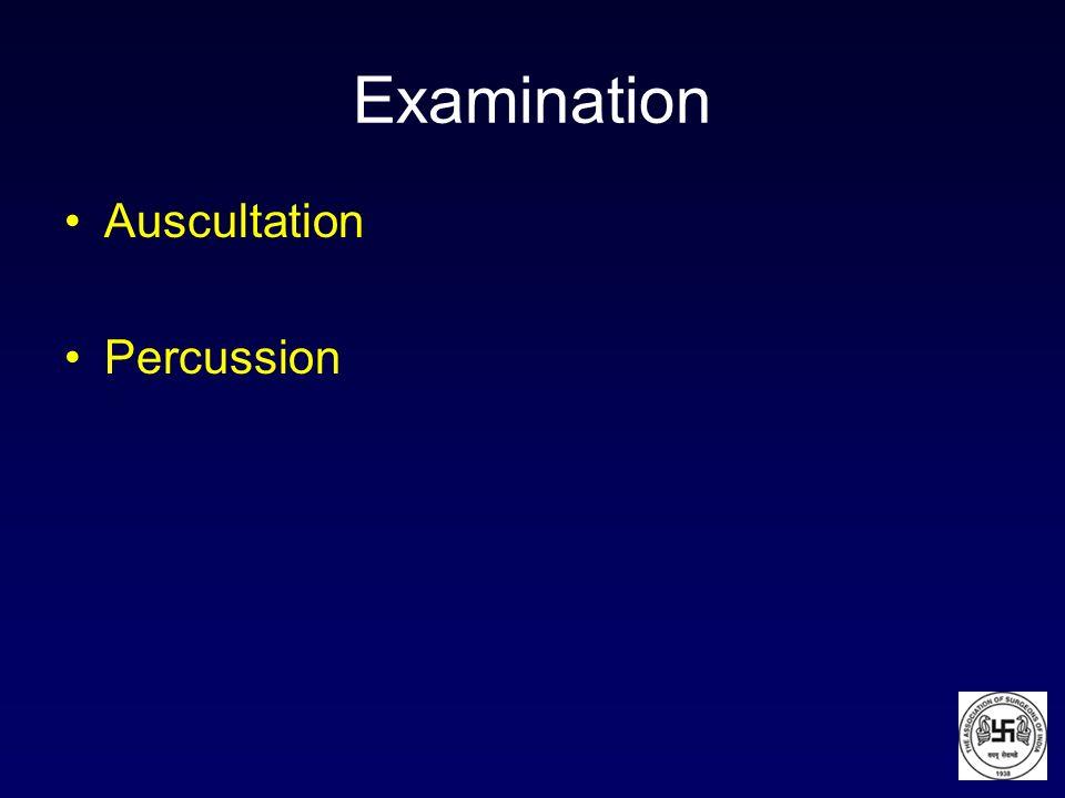 Examination Auscultation Percussion