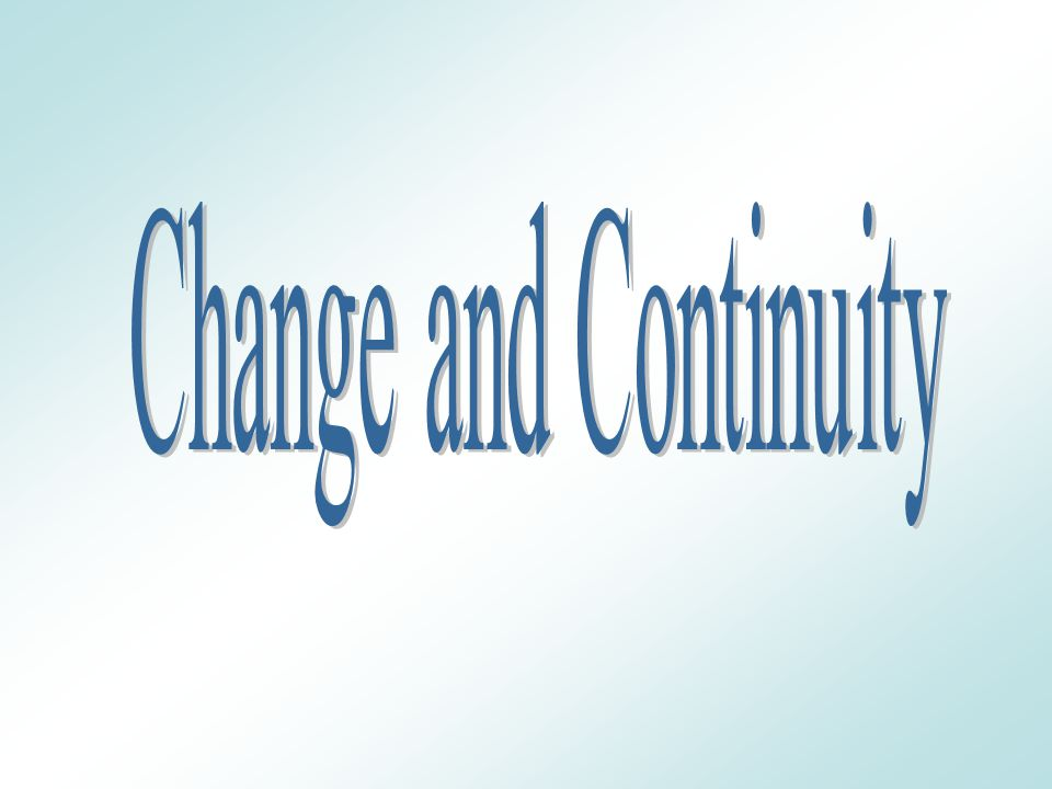 Changes and continuities in christianity