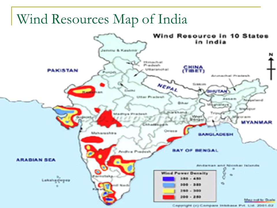 Wind Resources Map of India