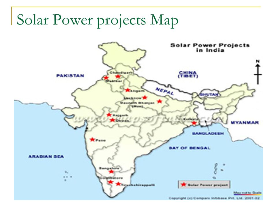 Solar Power projects Map