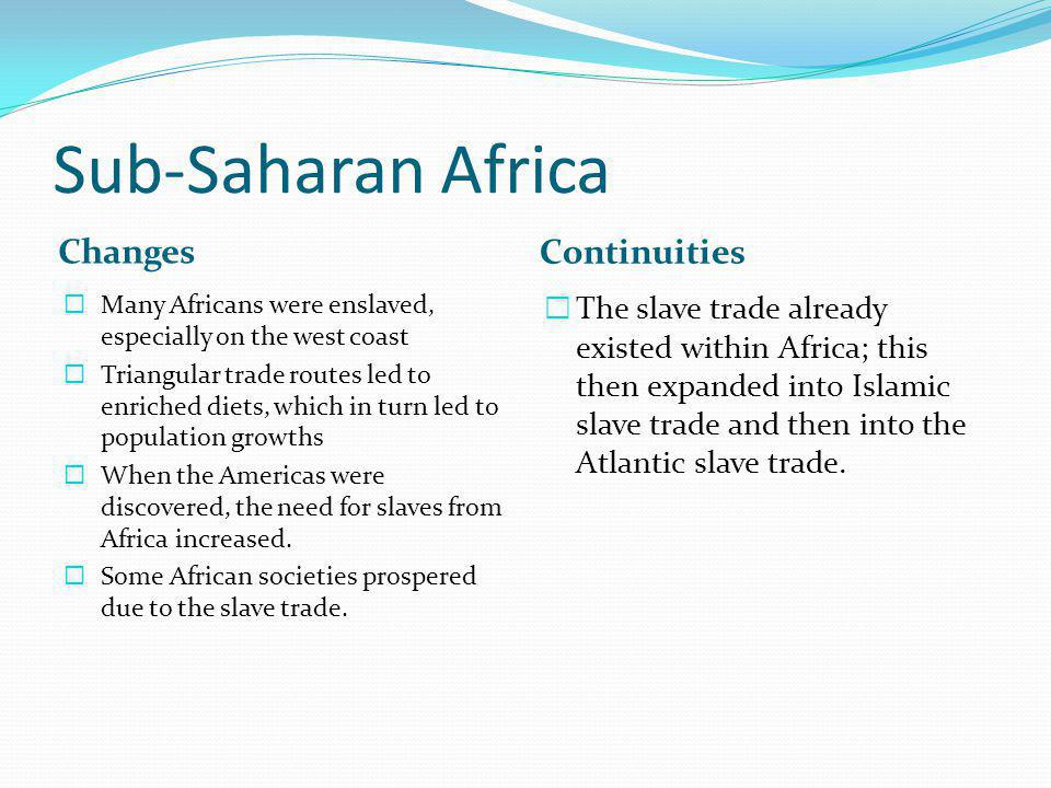 Sub-Saharan Africa Changes Continuities