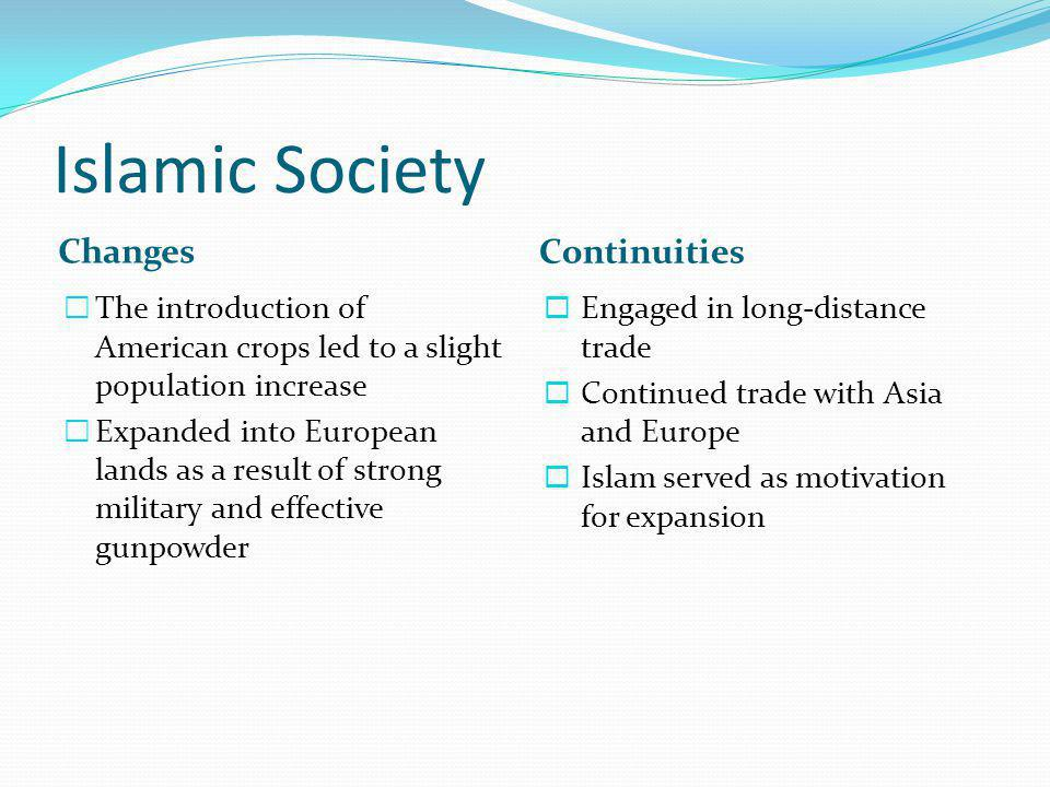 Islamic Society Changes Continuities