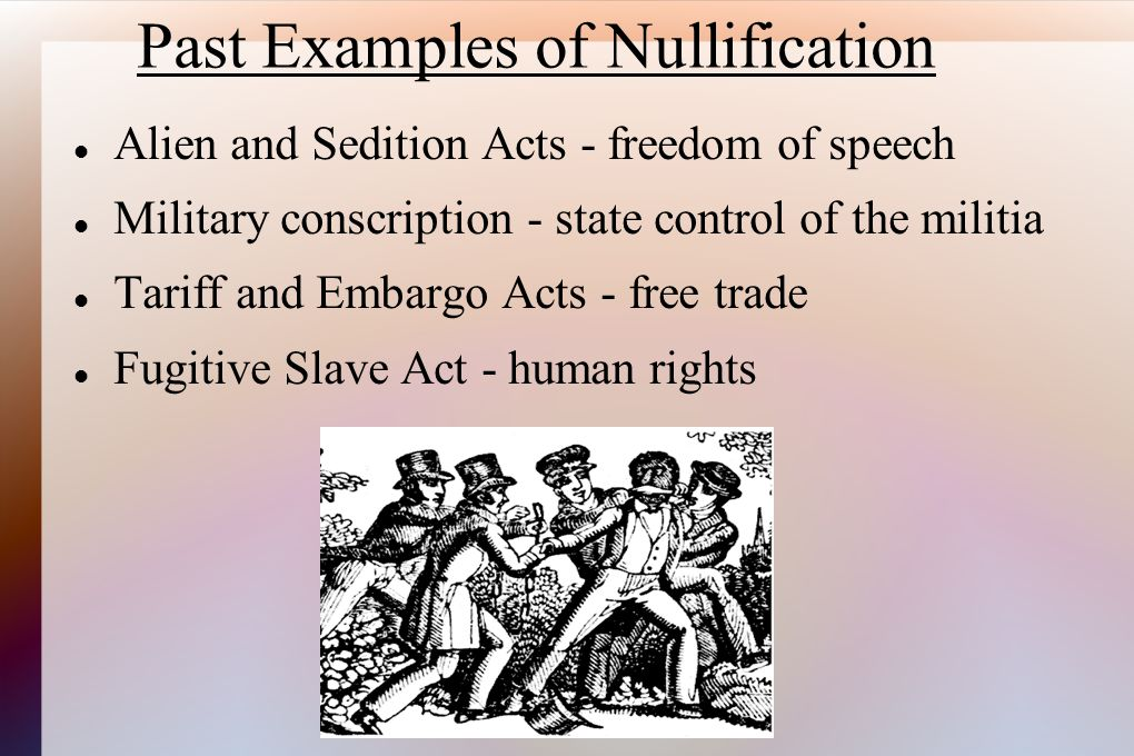 Past Examples of Nullification