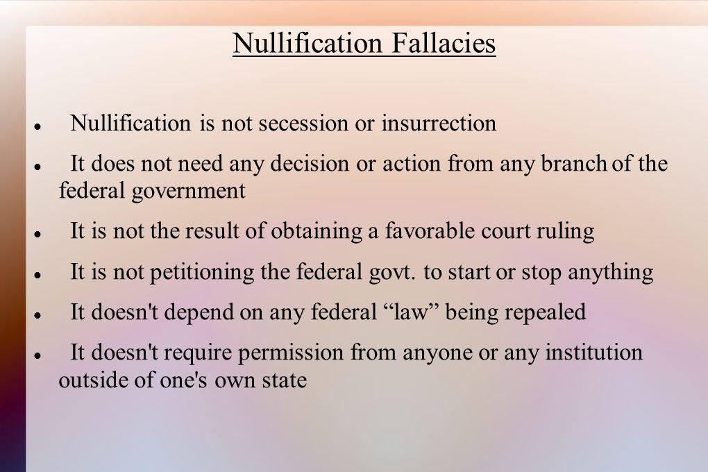 Nullification Fallacies