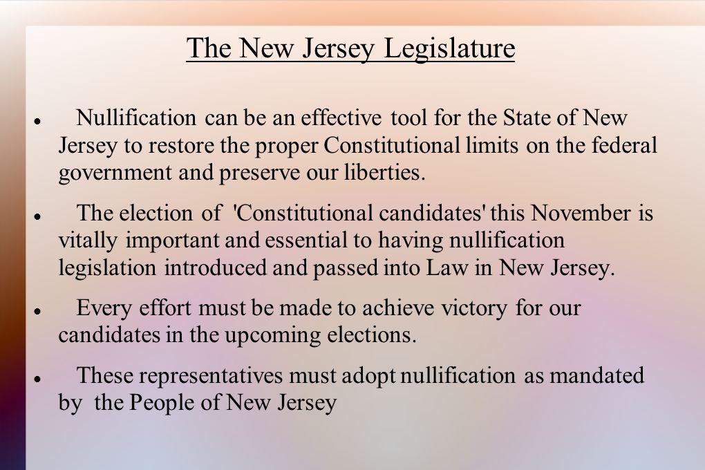 The New Jersey Legislature