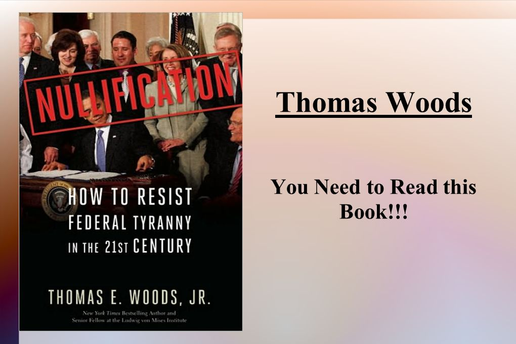 Thomas Woods You Need to Read this Book!!!