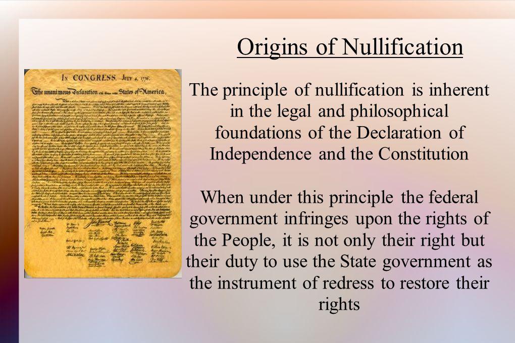 Origins of Nullification