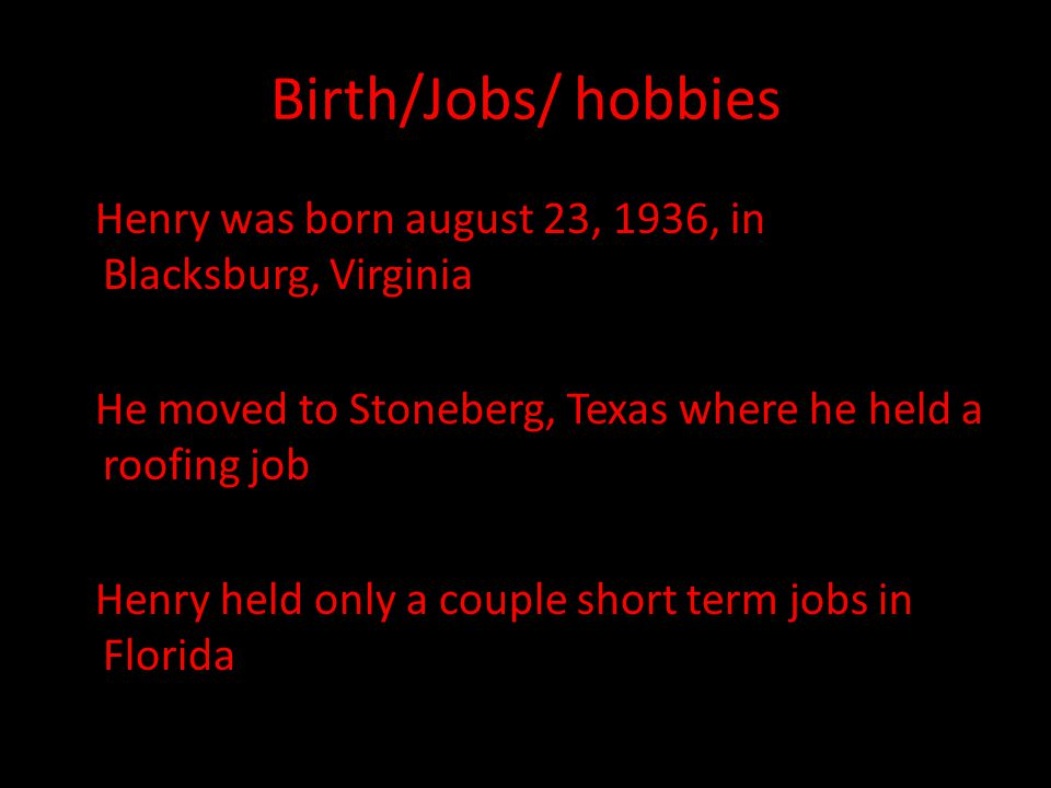 Birth/Jobs/ hobbies