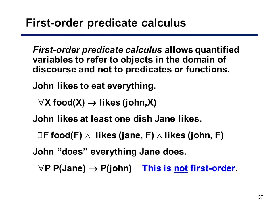 First-order predicate calculus