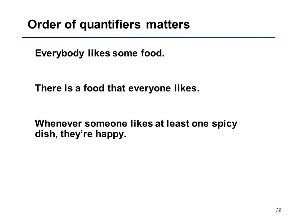 Order of quantifiers matters
