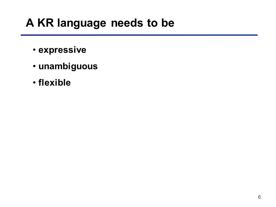 A KR language needs to be