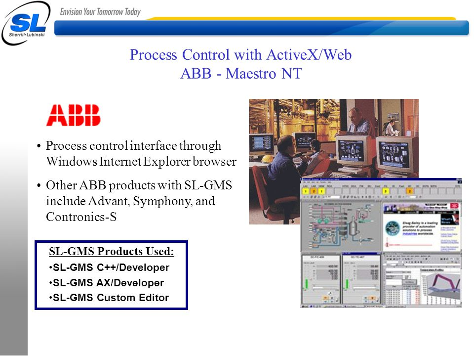 Process Control with ActiveX/Web ABB - Maestro NT