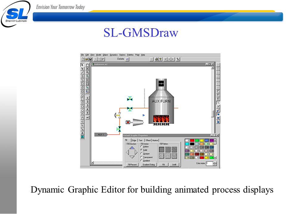 SL-GMSDraw Dynamic Graphic Editor for building animated process displays