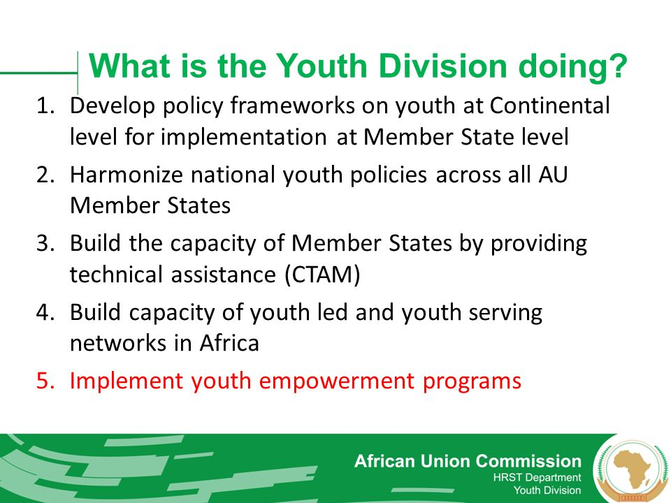 What is the Youth Division doing