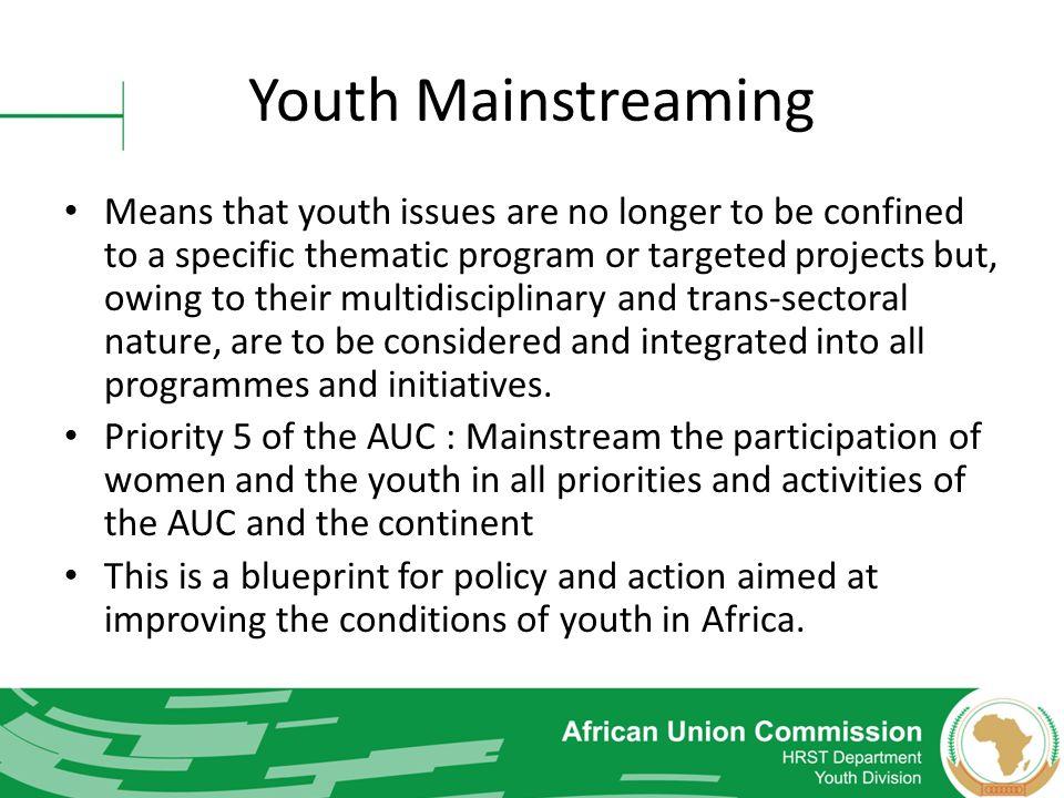 Youth Mainstreaming
