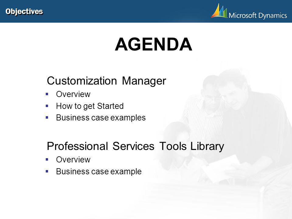 AGENDA Customization Manager Professional Services Tools Library