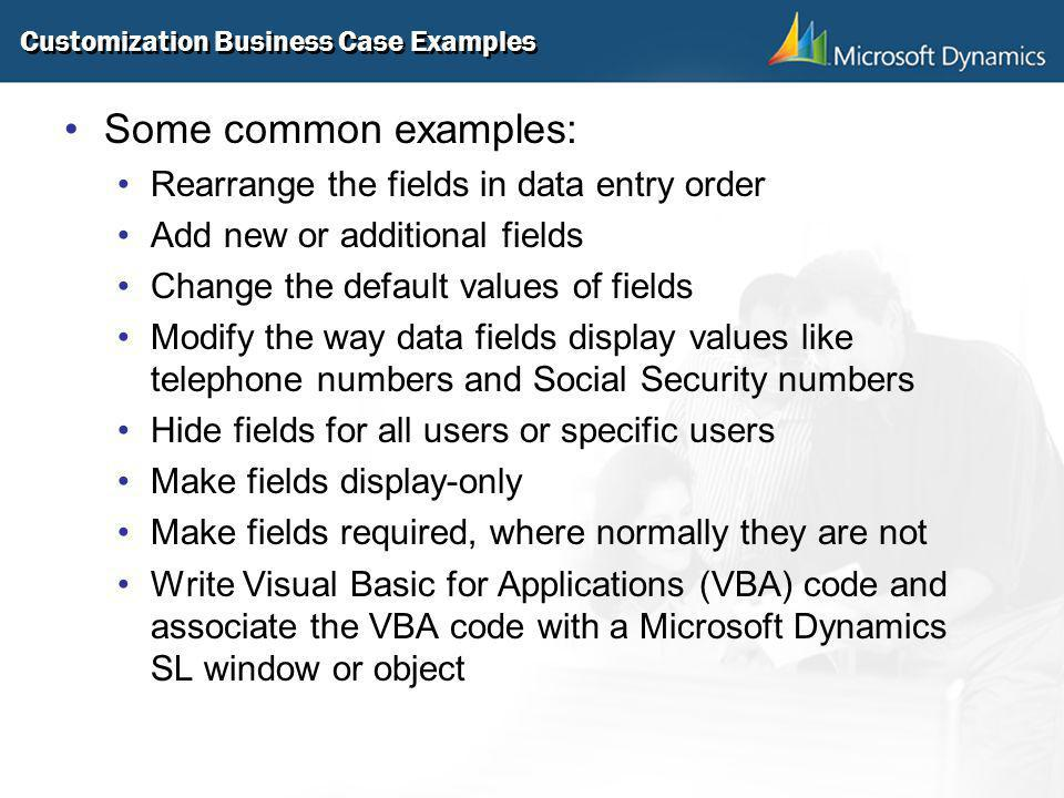 Customization Business Case Examples