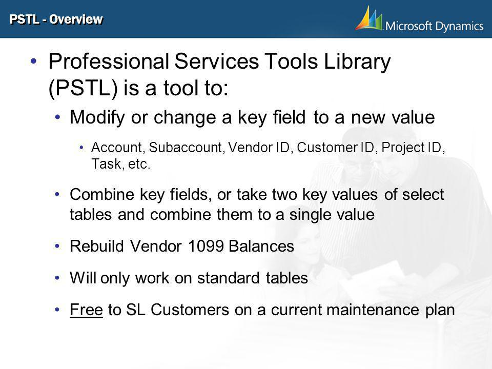 Professional Services Tools Library (PSTL) is a tool to: