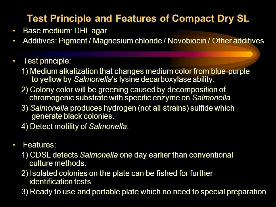 Test Principle and Features of Compact Dry SL