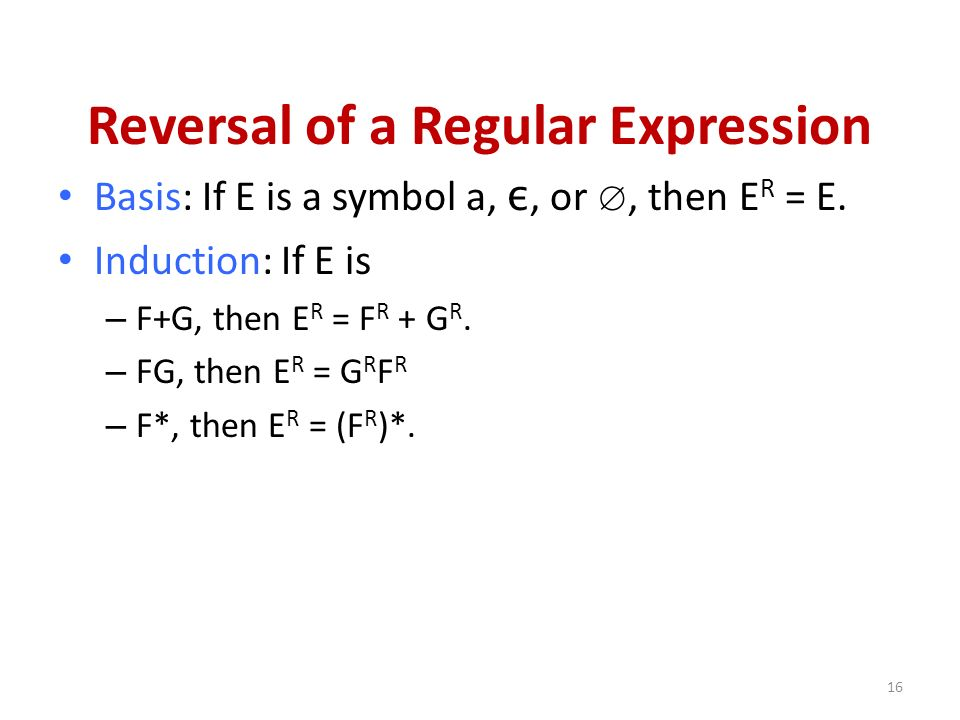 Reversal of a Regular Expression
