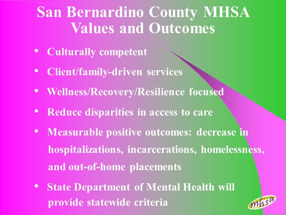 San Bernardino County MHSA