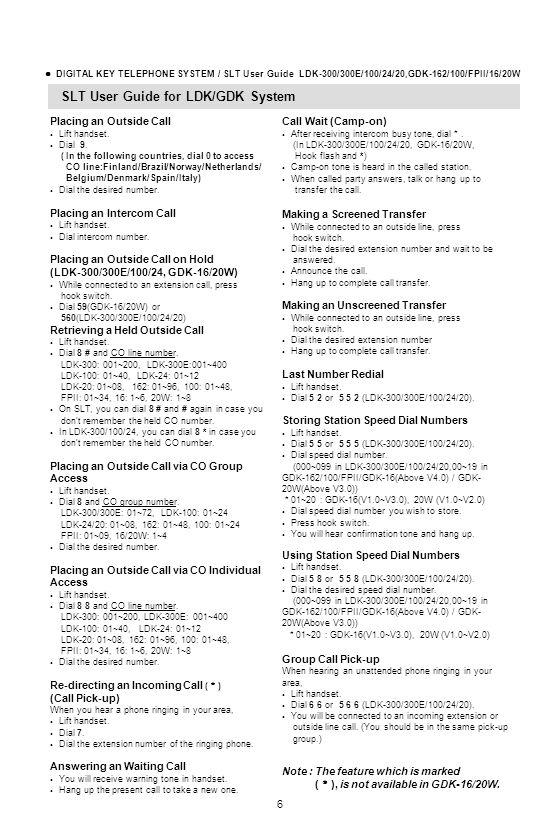 SLT User Guide for LDK/GDK System