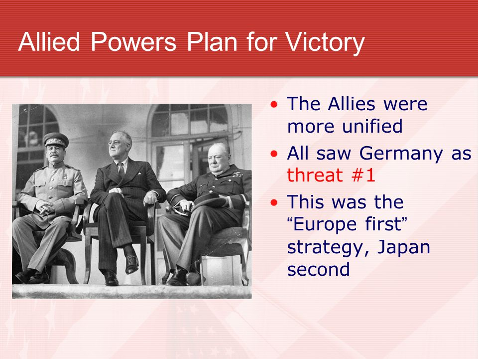 Allied Powers Plan for Victory
