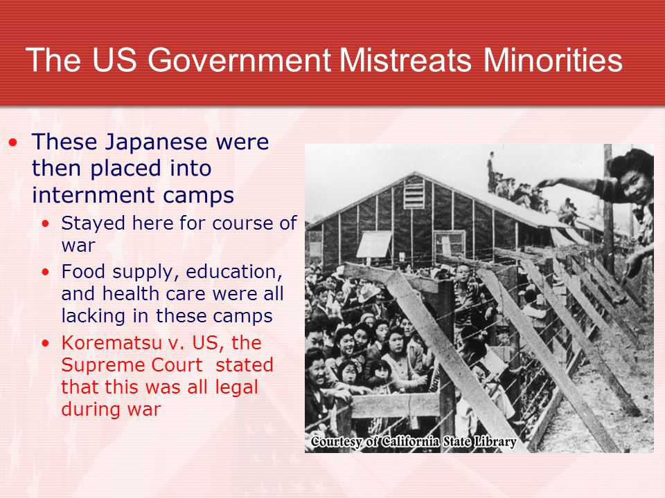 The US Government Mistreats Minorities