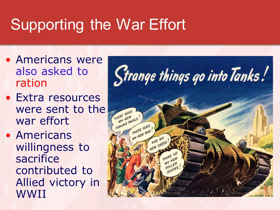 Supporting the War Effort