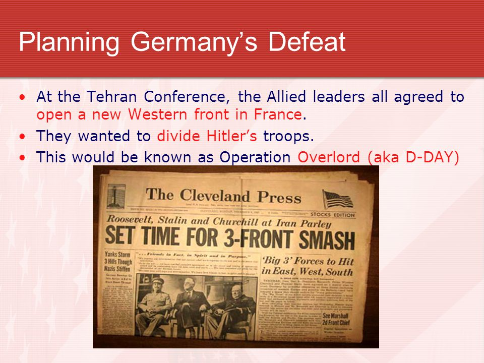 Planning Germany's Defeat