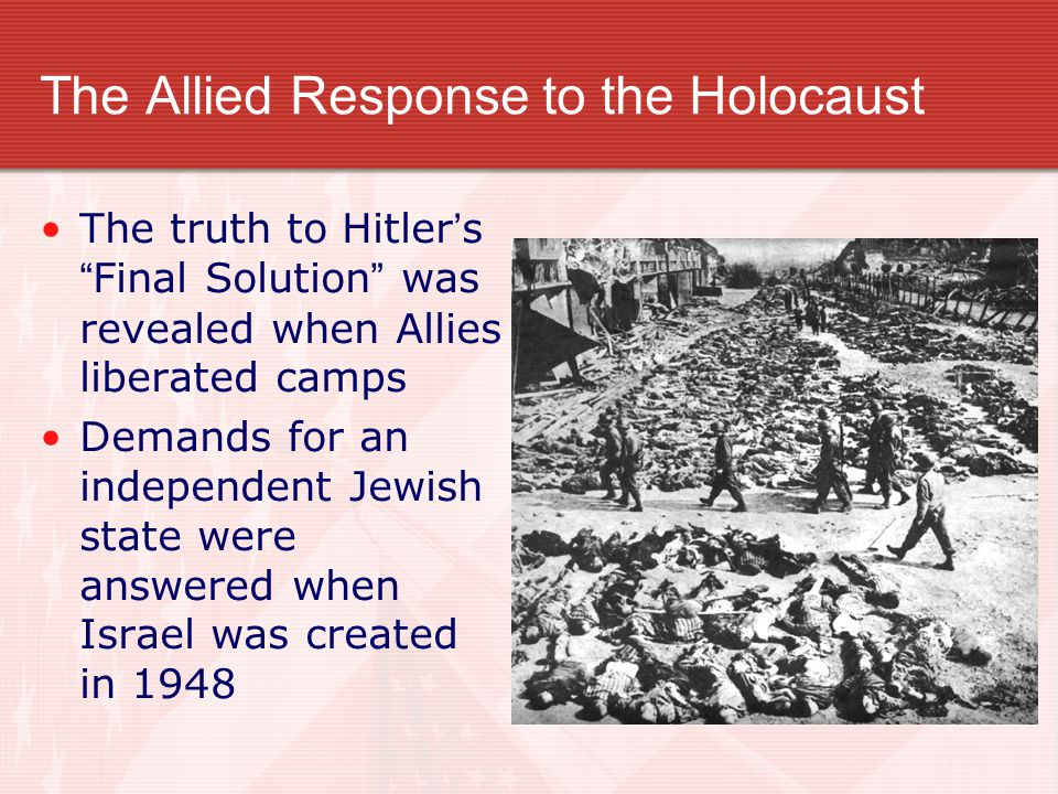 The Allied Response to the Holocaust