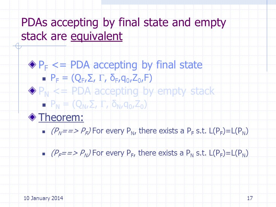 PDAs accepting by final state and empty stack are equivalent