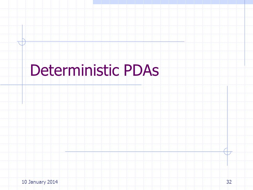 Deterministic PDAs 25 March 2017 Cpt S 317: Spring 2009
