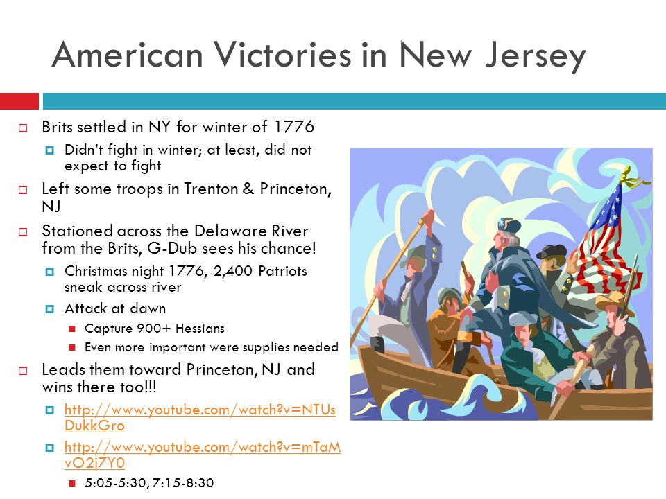 American Victories in New Jersey