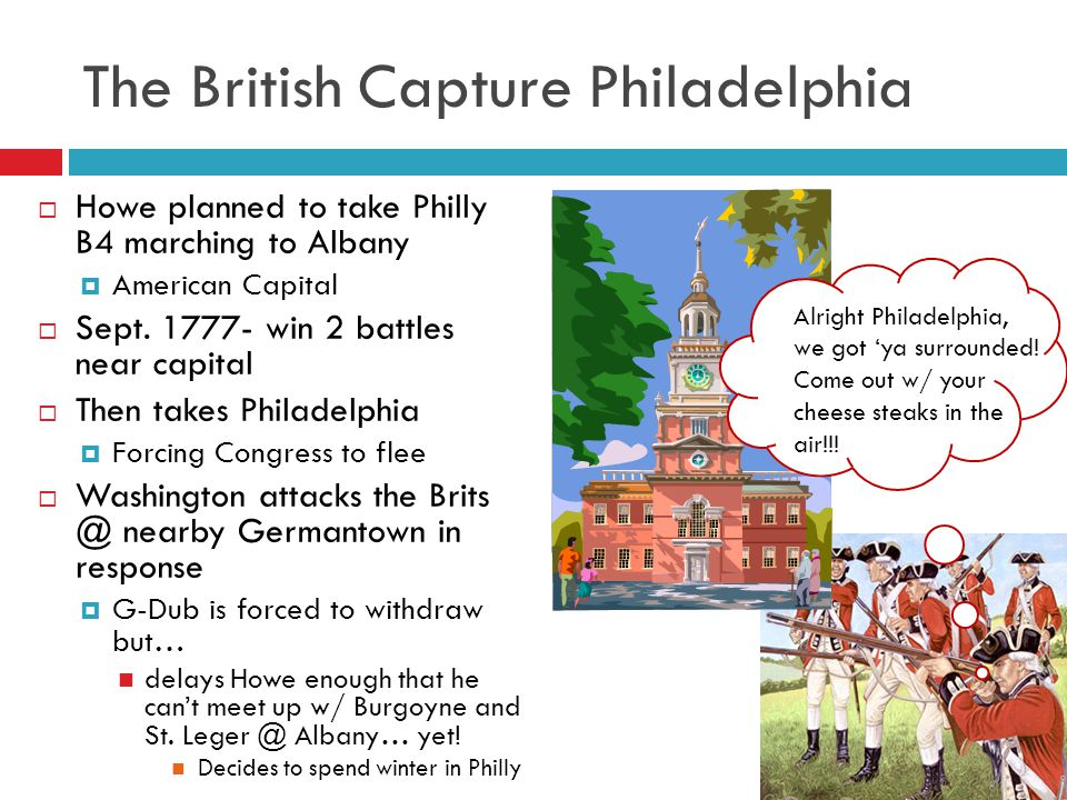 The British Capture Philadelphia