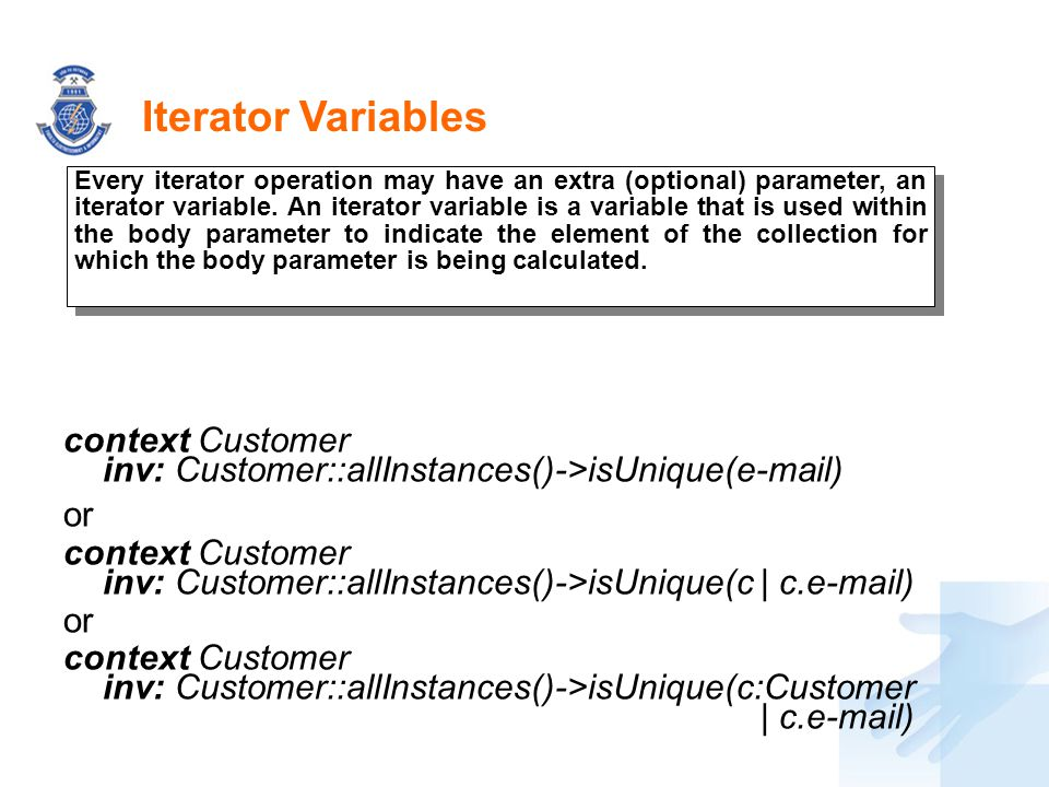 Iterator Variables