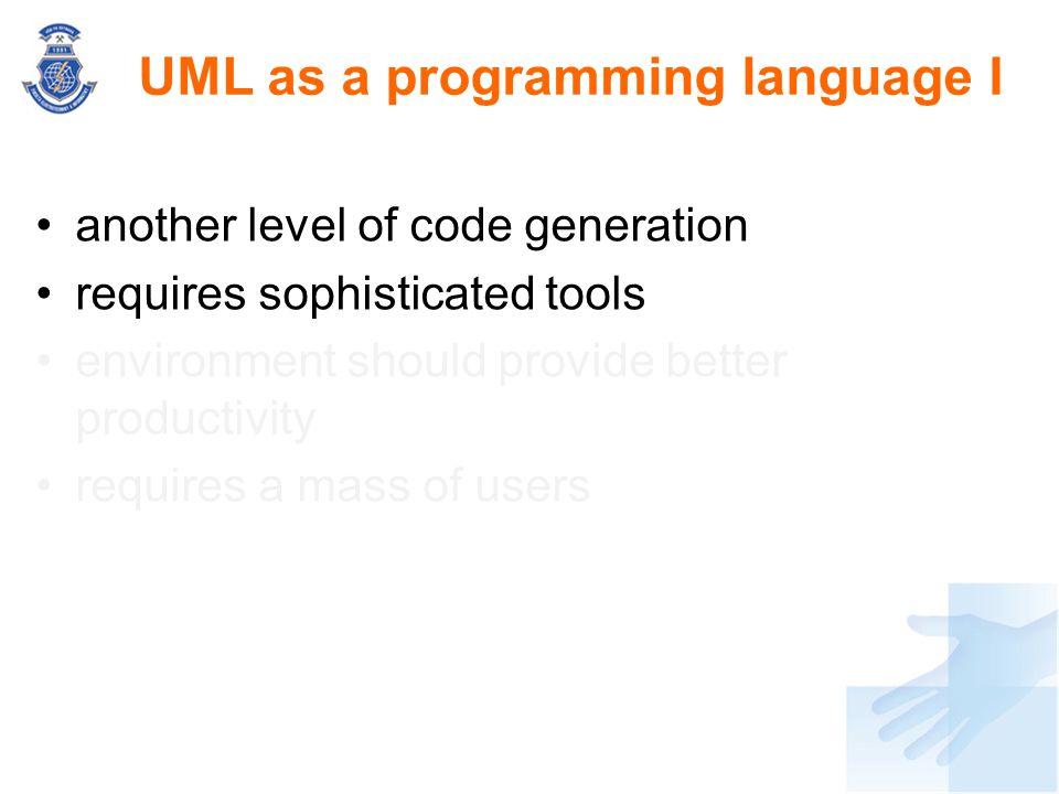 UML as a programming language I