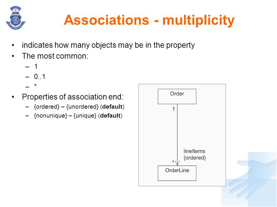 Associations - multiplicity