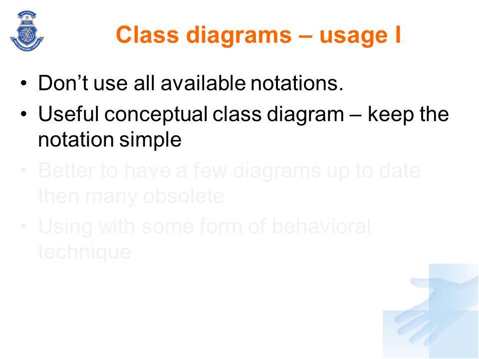 Class diagrams – usage I