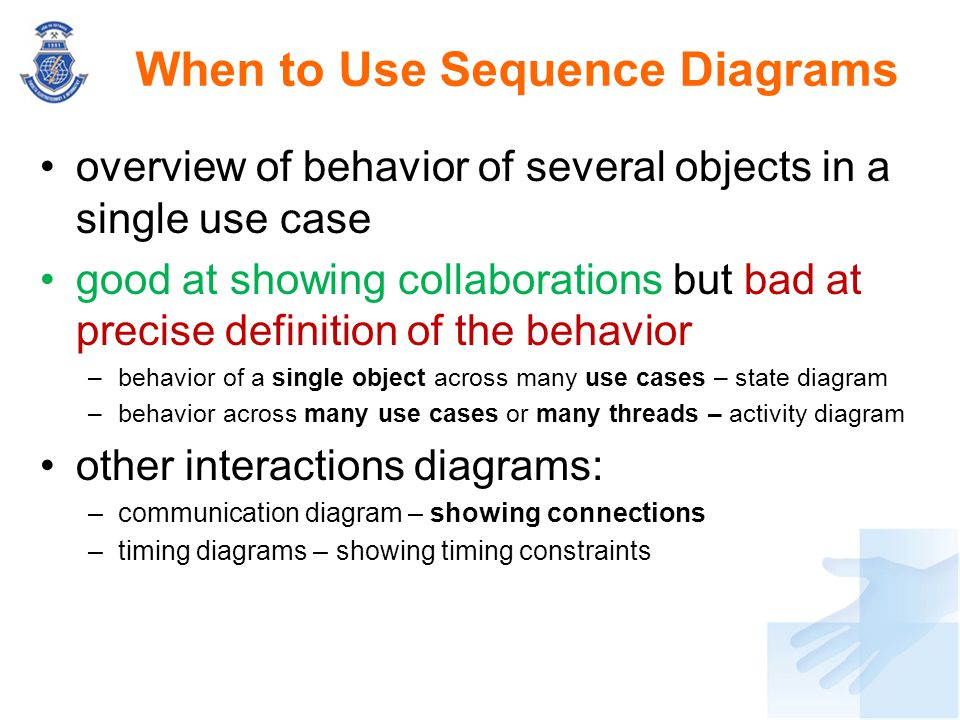When to Use Sequence Diagrams