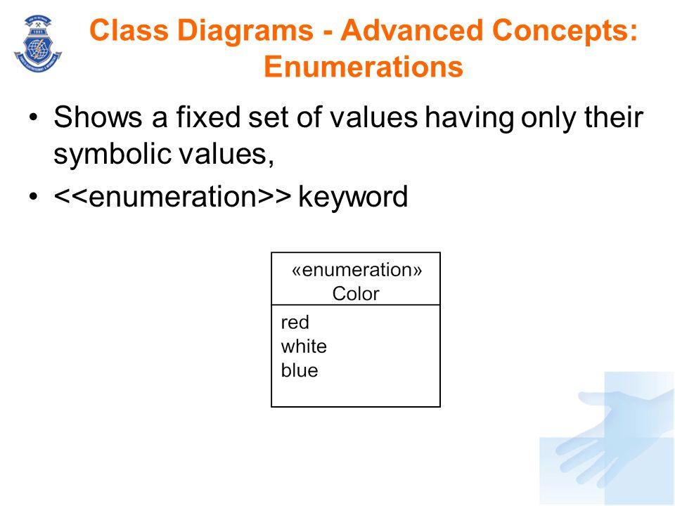 Class Diagrams - Advanced Concepts: Enumerations